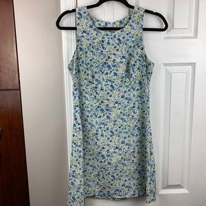 Vintage All That Jazz Floral Sleeveless Dress M